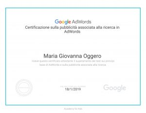 certificato Google AdWords