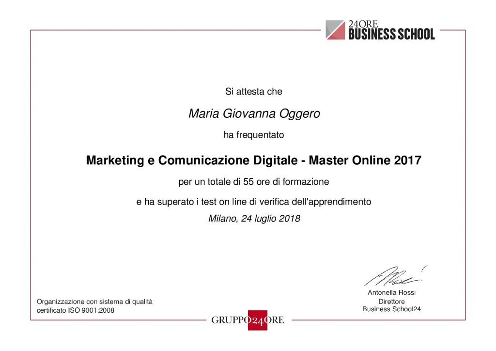 Master Online in Marketing e Comunicazione Digitale